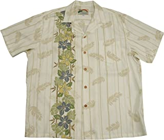 product image for Paradise Found Mens Plumeria Panel Shirt