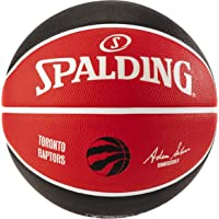 "Spalding Toronto Raptors Rubber Team Basketball,29.5""/ Size 7,Red/Black/White"