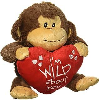 Brown Plush Valentine Monkey with