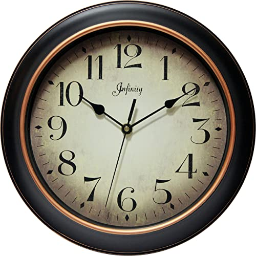 Infinity Instruments 14877BG-2732 Precedent Silent Sweep 12 inch Wall Clock