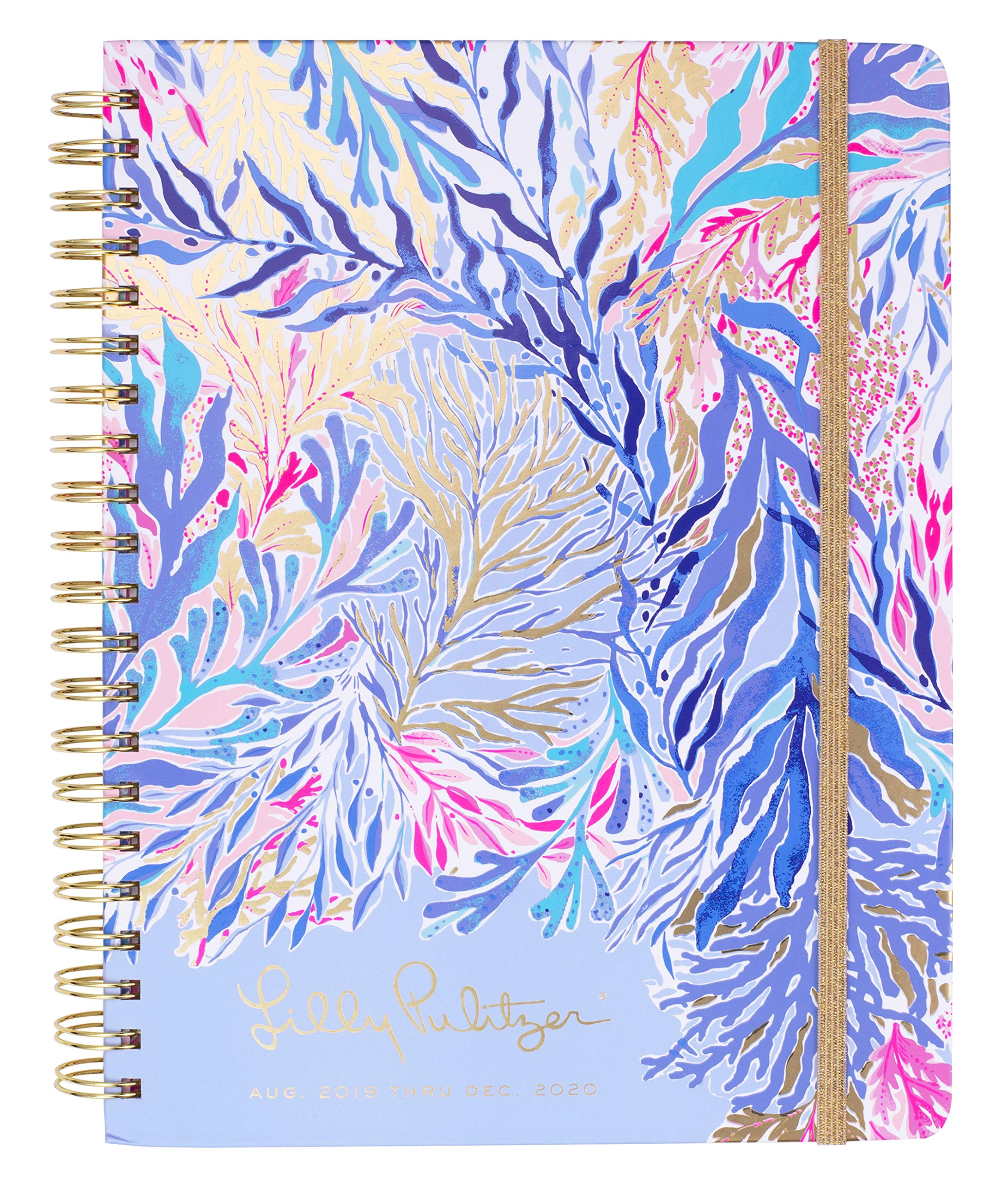 Lilly Pulitzer Jumbo 17 Month Hardcover Agenda, 11.13'' x 8.63'' Personal Planner with Monthly & Weekly Spreads for Aug. 2019 - Dec. 2020, Kaleidoscope Coral by Lilly Pulitzer