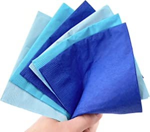 Blue Beverage Napkins - 50ct Boy Baby Shower 1st 2nd Birthday Party Supplies
