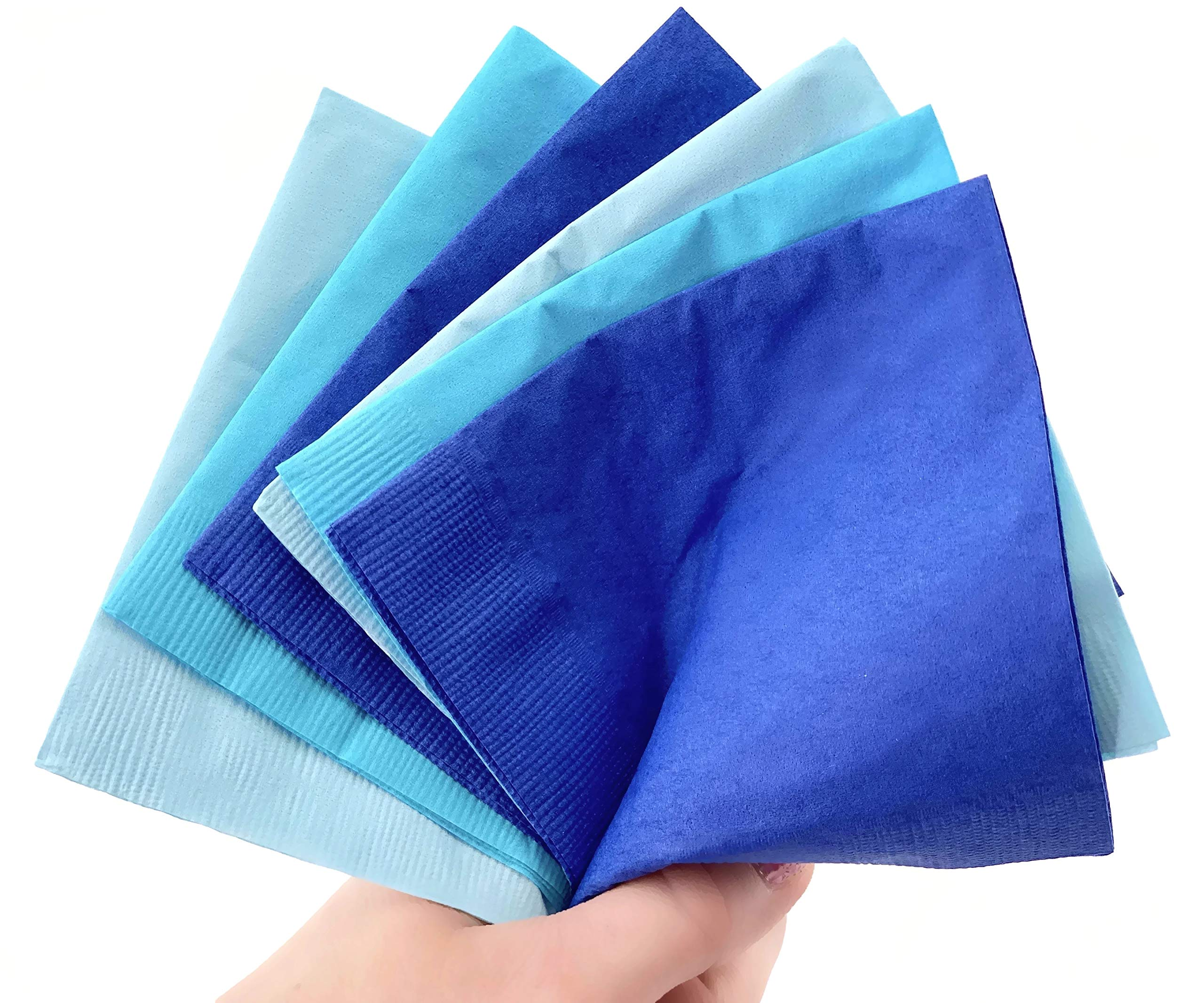 Blue Beverage Napkins - 50ct Boy Baby Shower 1st 2nd Birthday Party Supplies by Stesha Party