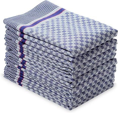 10er Pack Grubentücher 45x90 cm blau Küchentücher Grubentuch 100/% Baumwolle