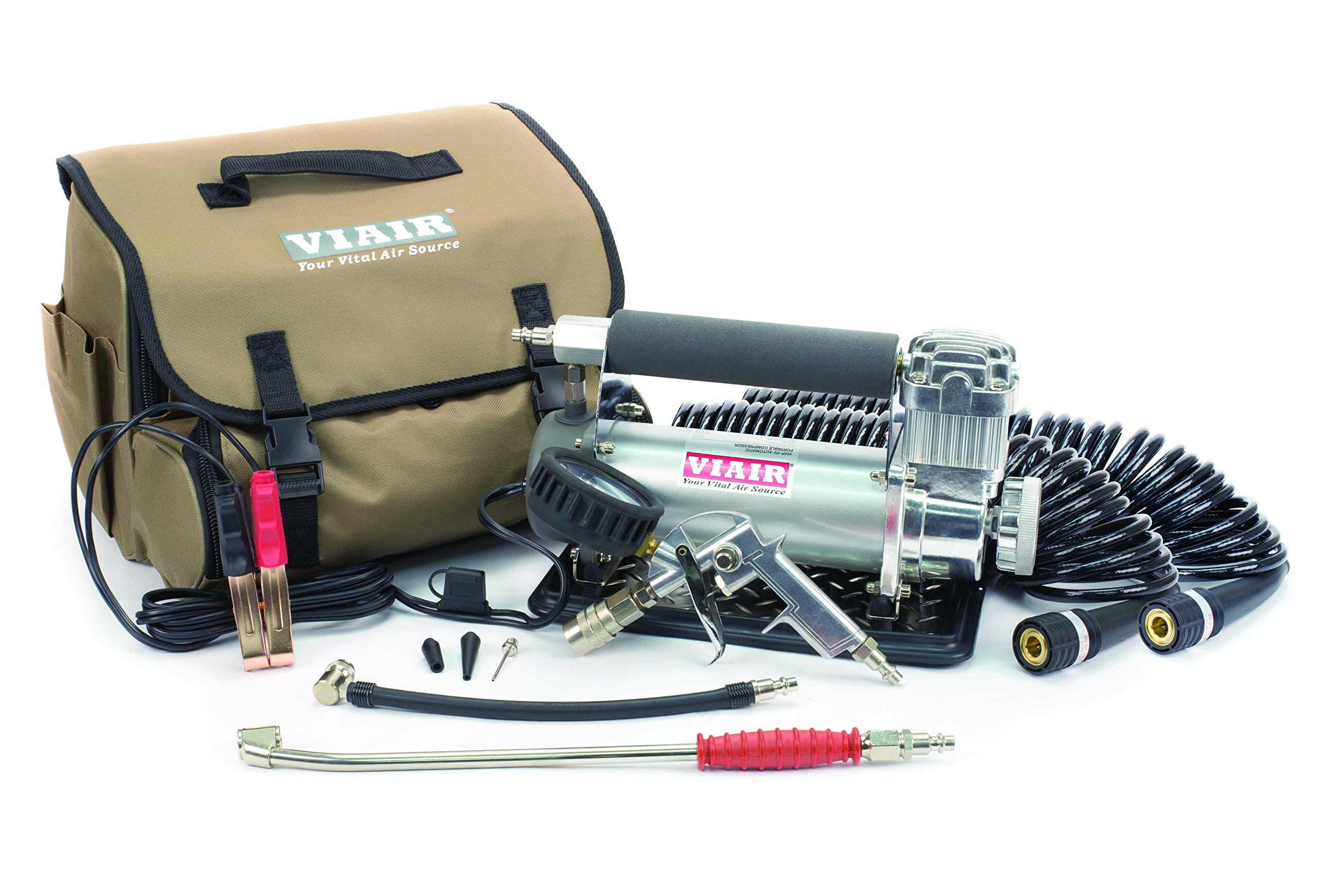 VIAIR 45053 Silver Automatic Portable Compressor Kit (450P-RV) by VIAIR (Image #1)