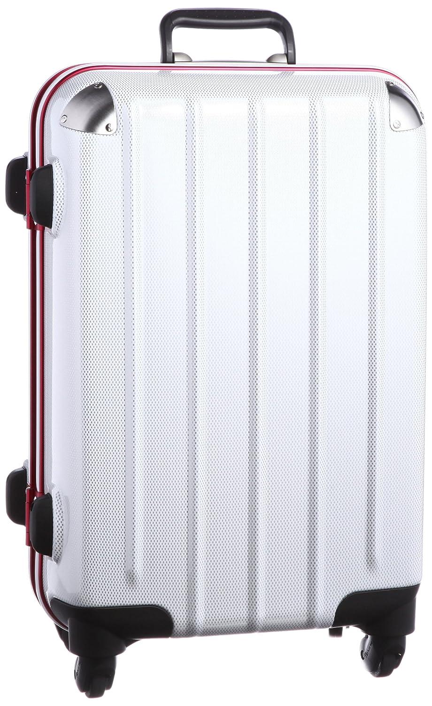 [プラスワン] PLUS ONE スーツケース 47L 4.8kg ヒノモトキャスター  ホワイトカーボン/レッドフレーム B008FRX8HW