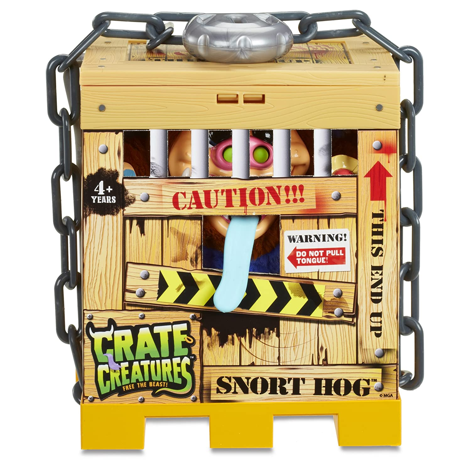 MGA Entertainment 549253E5C Crate Braun Creatures Surprise -Snort Dog Spielzeug, Braun Crate 80cf66