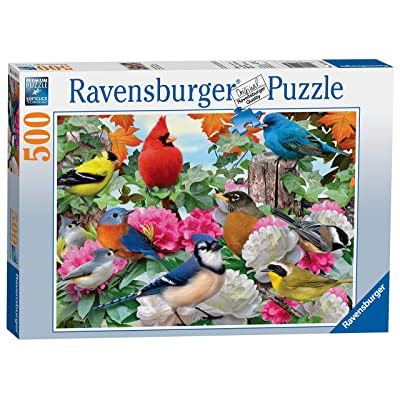 Ravensburger Garden Birds 500 Piece Jigsaw Puzzle for Adults – Every Piece is Unique, Softclick Technology Means Pieces Fit Together Perfectly: Ravensburger: Toys & Games