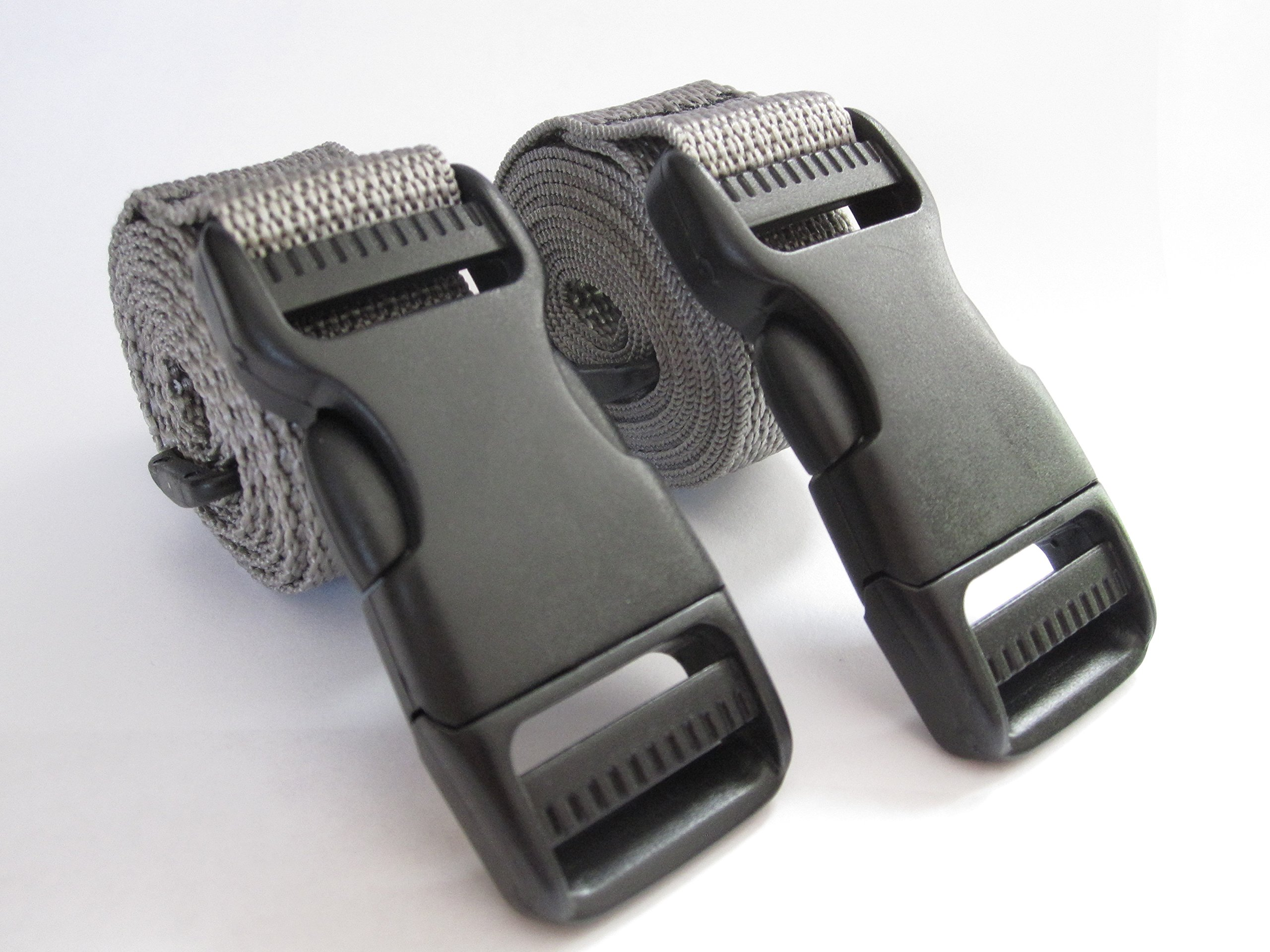 Molle Backpack Accessory Straps - Quick Release Buckle (Grey)