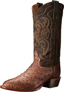 product image for Tony Lama Men's Vintage Ostrich 8965 Western Boot,Chocolate,10 EE US