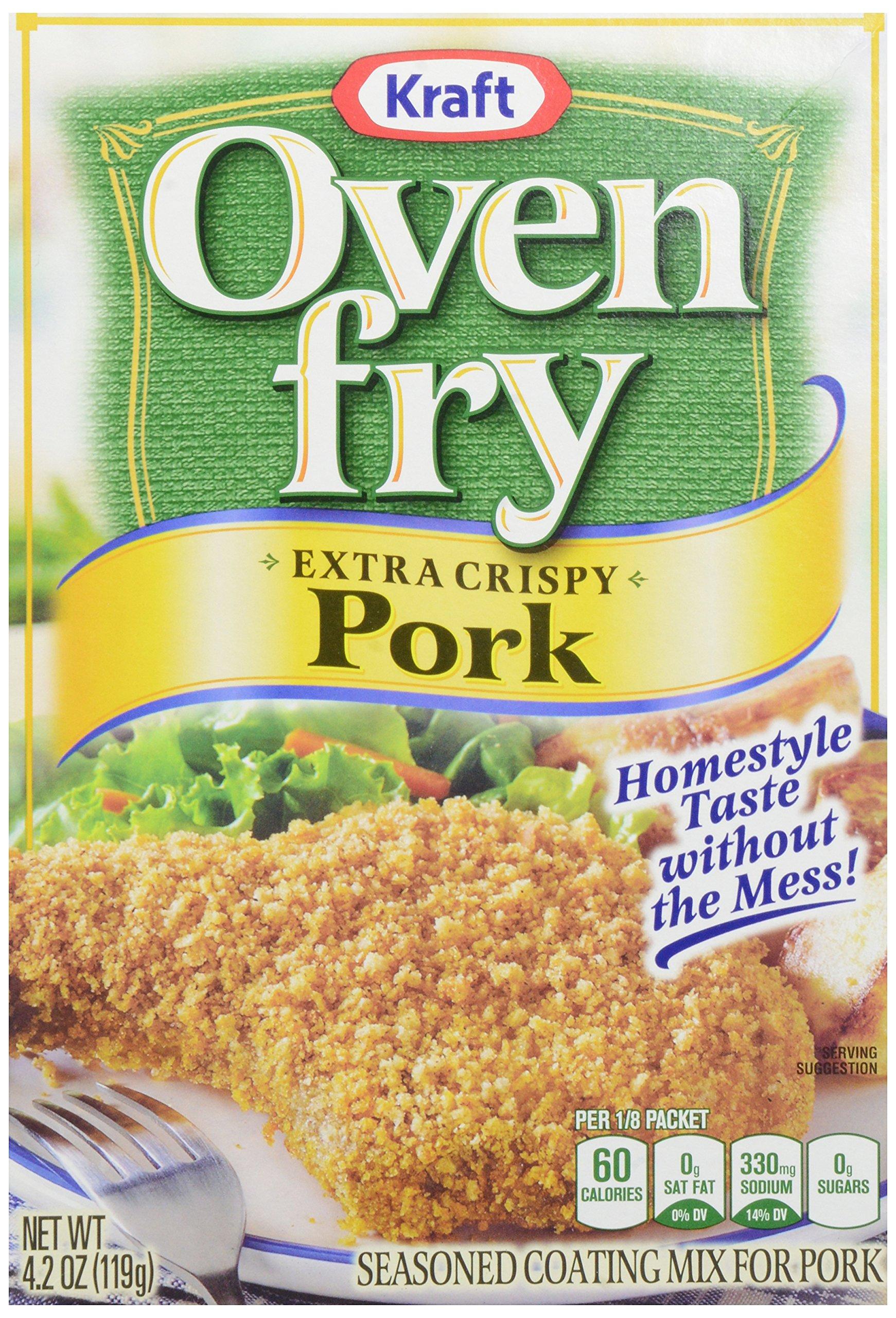 Kraft Oven Fry Seasoned Coating Mix for Pork, Extra Crispy, 4.2 oz(pack of 8)