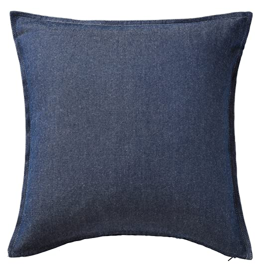 Funda de almohada cojín Ikea Ormkaktus azul tela vaquera 100 ...