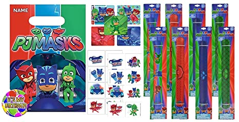 """PJ MASKS"" Inspired Kids Party Favor Goodie Bag Filler, Loot Bags Included"