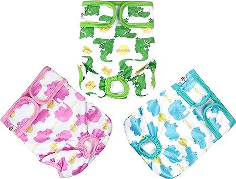 Amazon.com: wegreeco - Pañales lavables para perro (3 ...