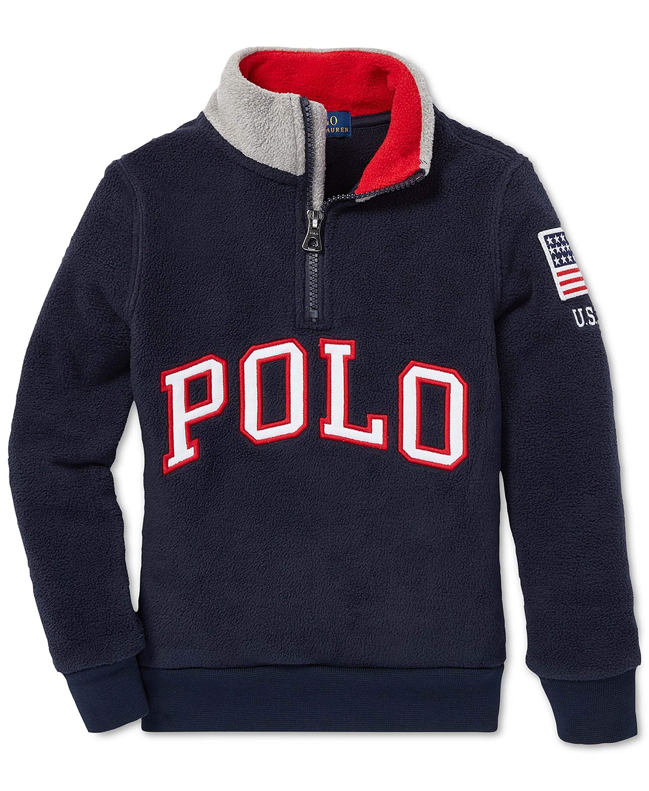 Ralph Lauren Little Boy's Fleece Pullover Sweater (4/4T)