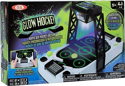 Amazon.com: Ideal Glow Hockey Mesa de Air Hockey: Toys & Games