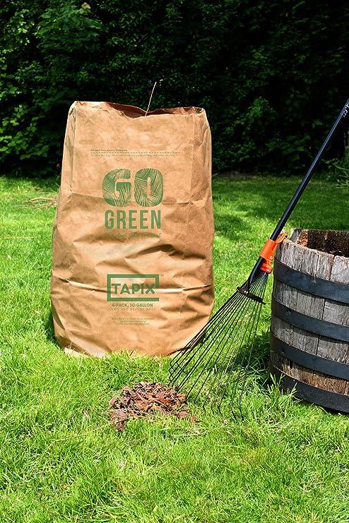 Amazon.com: Bolsas de césped y hojas ecológicas Tapix ...
