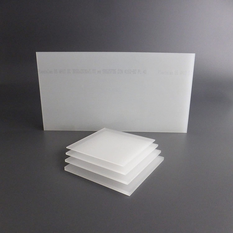 lobotec-acryl PLEXIGLAS Zuschnitt Acrylglas Zuschnitt 3-10mm wei/ß satiniert Snow 4mm, 400 x 400 mm