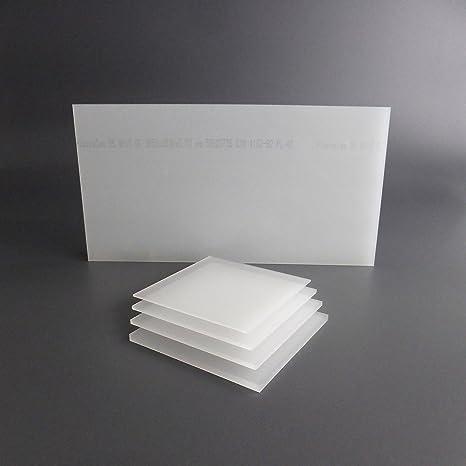 lobotec-acryl PLEXIGLAS Zuschnitt Acrylglas Zuschnitt 3-10mm wei/ß satiniert Snow 10mm, 500 x 750 mm