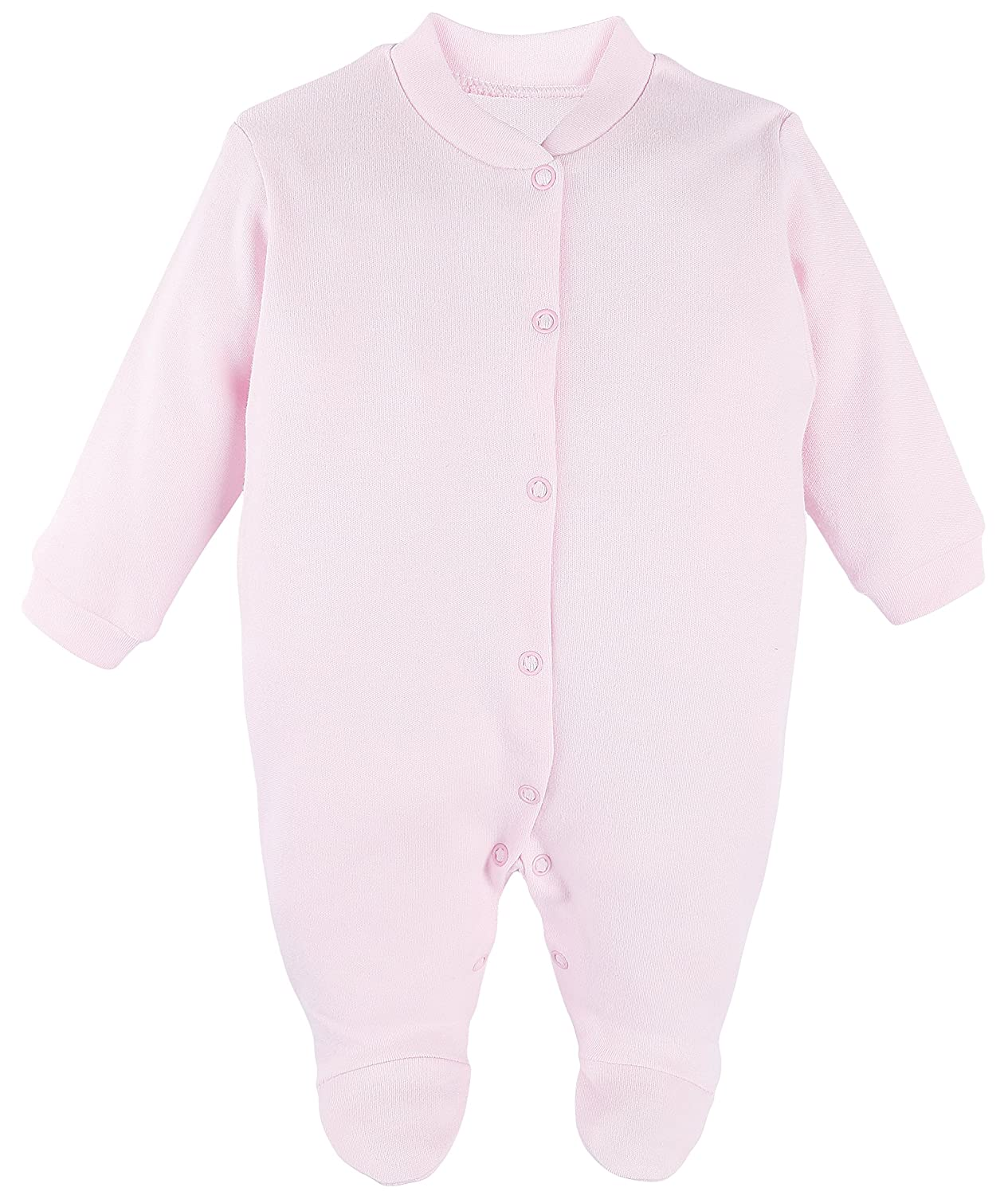 Hat and Mittens Layette Gift Set Lilax Baby Girl 3 Piece Solid Color Soft Cotton Footie