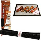 """Grilling Mesh - Non-stick Grill Mesh""""Rollable"""" Cooking Pan - Dishwasher safe & Reusable, for indoor or outdoor BBQ use"""