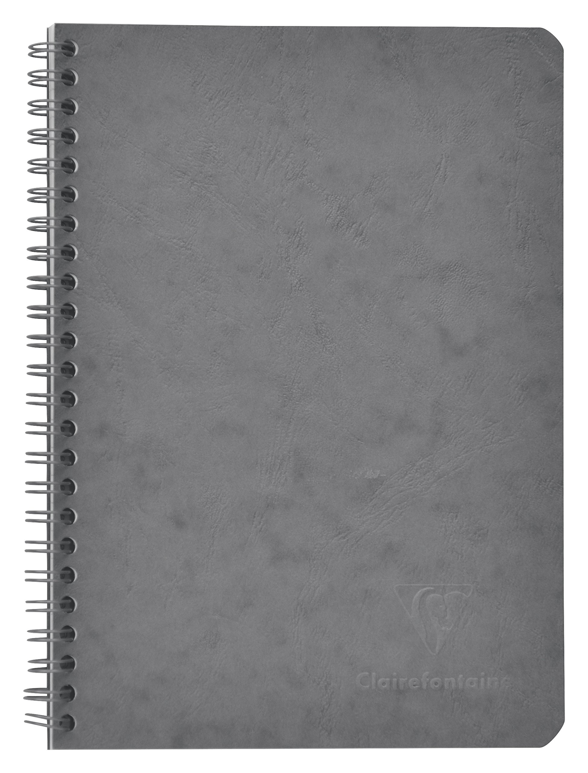 Clairefontaine Age Bag 3American 785665°C Notebook 120Ruled Pages 90g Imitation Leather Grain Cover 14.8x 21cm Grey