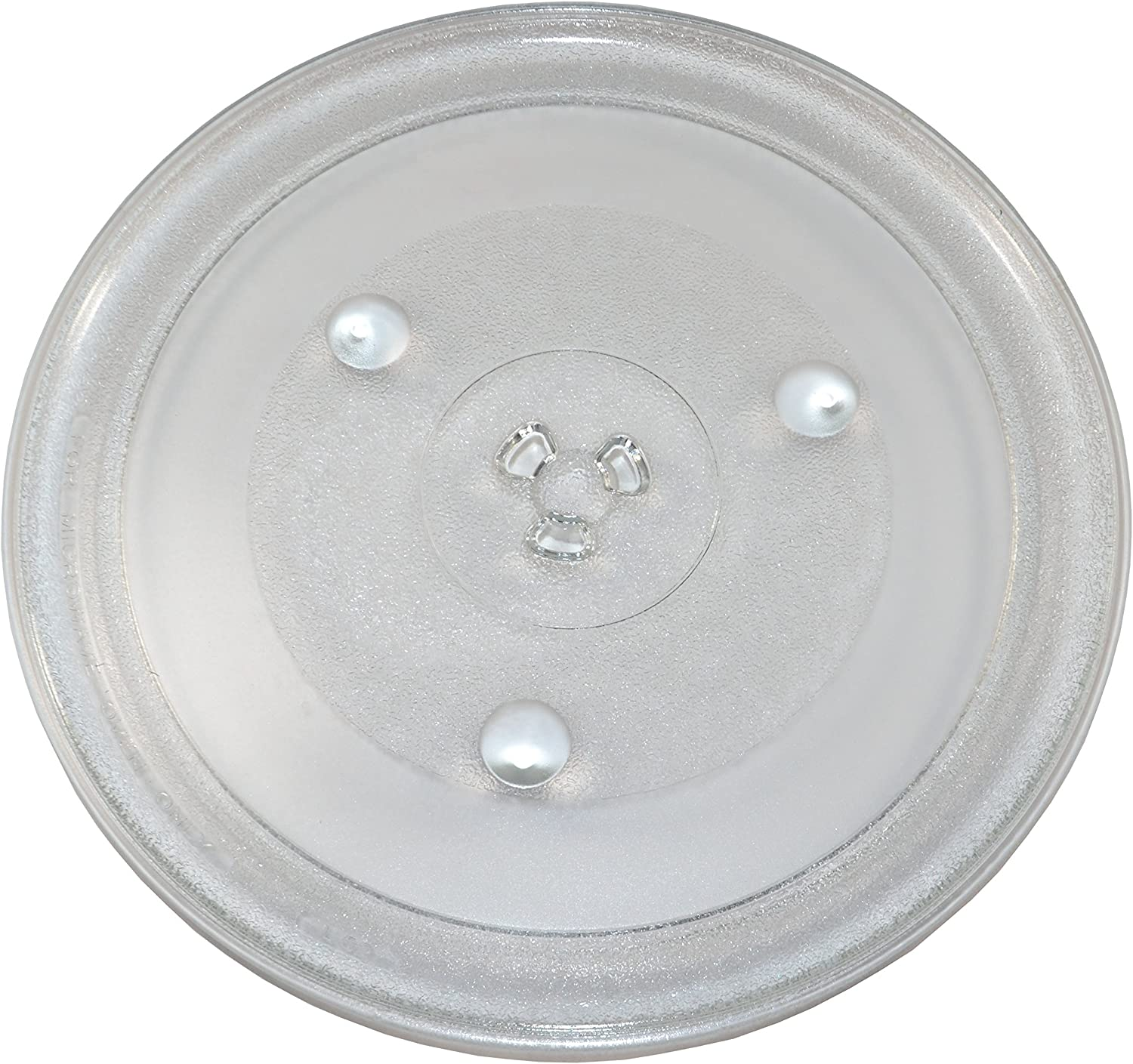 """HQRP 12.375"""" / 31.5cm Glass Turntable Tray fits GE General Electric, Hamilton Beach, Frigidaire, Emerson, Oster, Magic Chef, Panasonic Microwave Oven Cooking Plate 12-3/8-inch 315mm H4-899"""