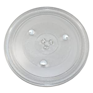 HQRP 12-3/8 inch Glass Turntable Tray for Hamilton Beach P100N30 P100N30AL P100N30ALS3B HBP100N30ALS3 GA1000AP30P3 EM031MZC-X1 Microwave Oven Cooking Plate 315mm + HQRP Coaster