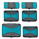 PRO Packing Cubes | 6 Piece Travel Packing Cube Value Set | 30% Space Saver Bags & Luggage Oranisers | Ultra Lightweight | Great for Duffel Bags, Carry on Luggage, and Backpacks