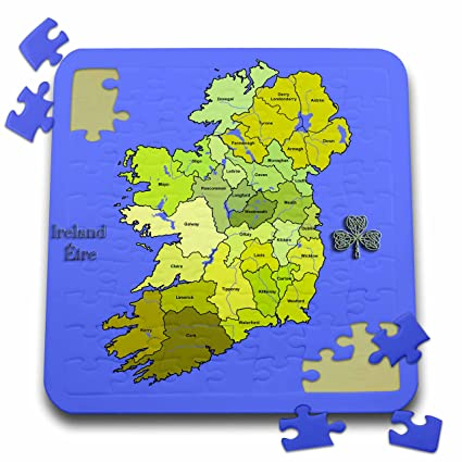 Republic Of Ireland And Northern Ireland Map.Amazon Com 3drose 777images Map Irish Colorful Green Map Of All