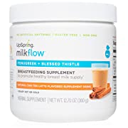 UpSpring Milkflow Fenugreek and Blessed Thistle Lactation Tea, Chai Latte, Powder Drink Mix Lactation Supplement, 24 Servings