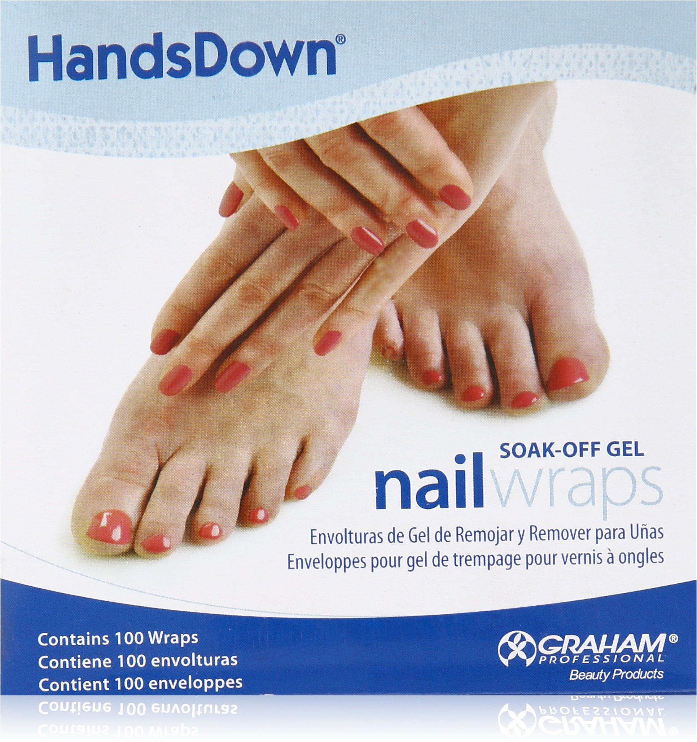 Graham Hands Down Soak Off Gel Nail Wraps, 100 Count