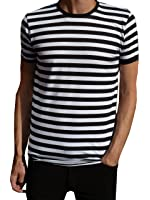 mens long sleeve striped t shirt black and white indie s m. Black Bedroom Furniture Sets. Home Design Ideas