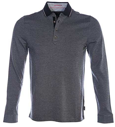 Ted Baker Mens Cuptea Long Sleeve Striped Polo Shirt - Black - M ...