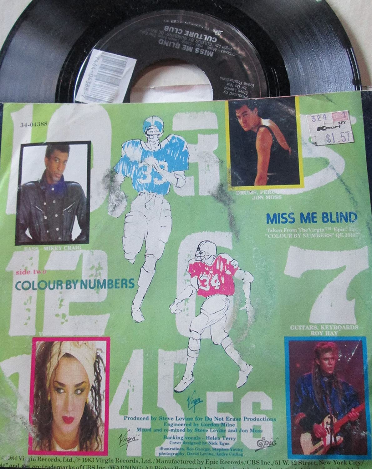 Culture Club - CULTURE CLUB 45 RPM Miss Me Blind / Colour By Numbers ...