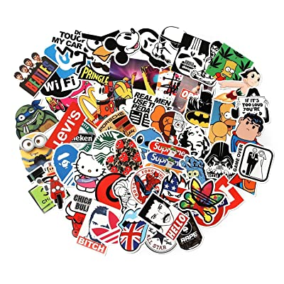 CHNLML Love Sticker Pack 100-Pcs,Cool Sticker Decals Vinyls for Laptop,Kids,Cars,Motorcycle,Bicycle,Skateboard Luggage,Bumper Stickers Hippie Decals Bomb Waterproof(Not Random) (B): Computers & Accessories