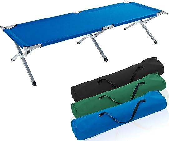 tresko XXL – Cama de camping cama de campaña de 190 x 64 x 44 cm Metal Tubo – Soporta hasta 150 kg – En Diferentes Colores