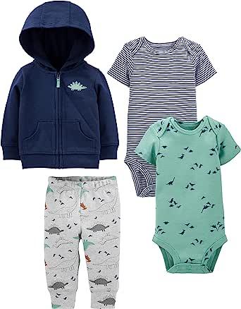 Simple Joys by Carter's 4-Piece Jacket, Pant, and Bodysuit Set Bebé-Niños