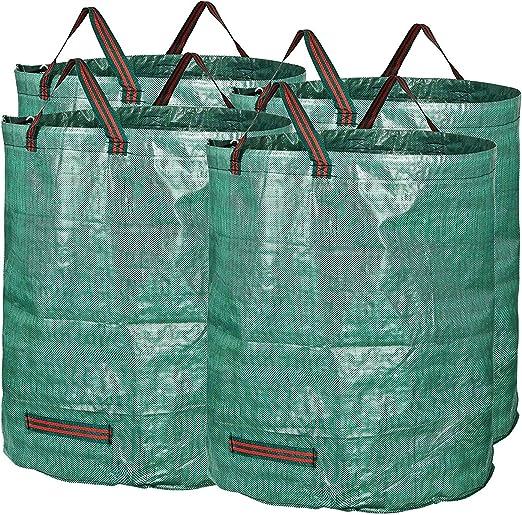Bolsas para Desechos De Jardín, Bolsa De Basura 500L, Extra Grande, Resistente Y Plegable, Verde, 4pack: Amazon.es: Jardín