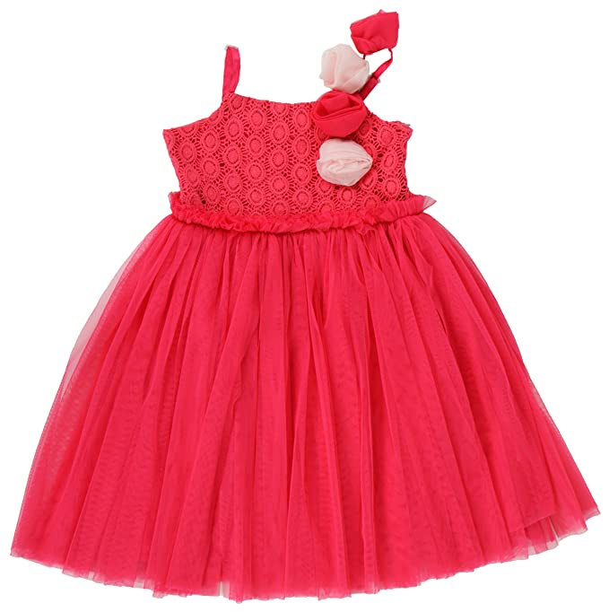6f7a8680742e KidsDew Kids Birthday Party Gown for Baby Girls Midi Maxi Frock Dress Red