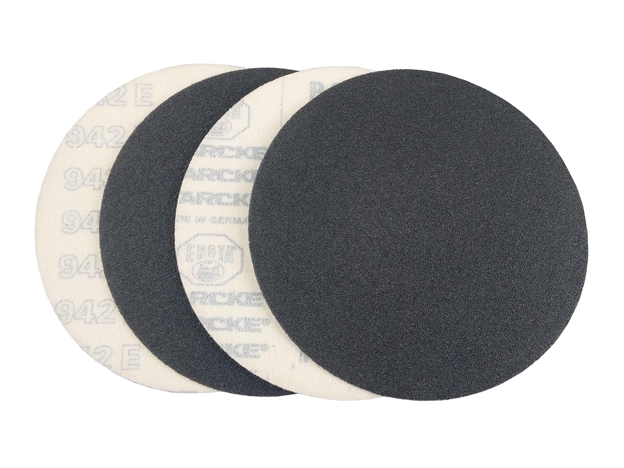 9'' Black Heavy Duty Hook and Loop Grip Sanding Discs (25 Pack, 24 Grit)