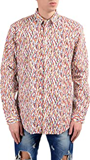 Versace Men's Graphic Designed Long Sleeve Dress Shirt US 16.5 IT 42