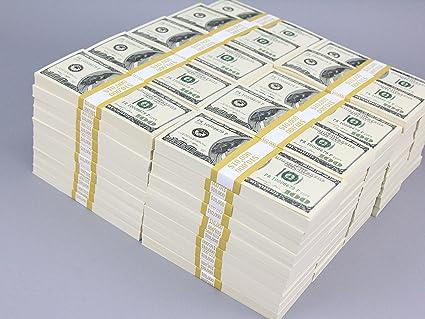 amazon com prop money real looking copy 100s full print pack