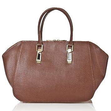 352e415f5e4c4 Abverkauf - Lagerräumung - Italienische Lederhandtasche - Handtasche Paris  in haselnuß braun