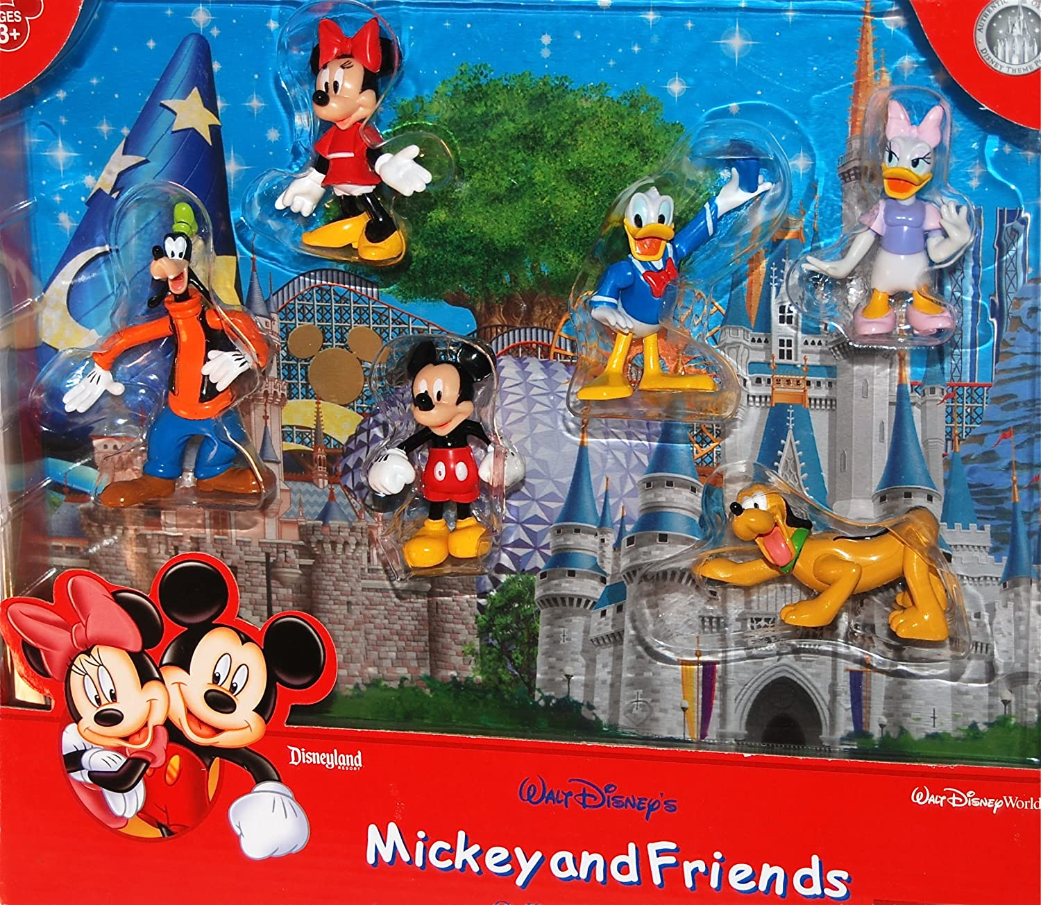 Disney Parks 2015 Eraser Pack of 6 New Mickey Mouse and Friends