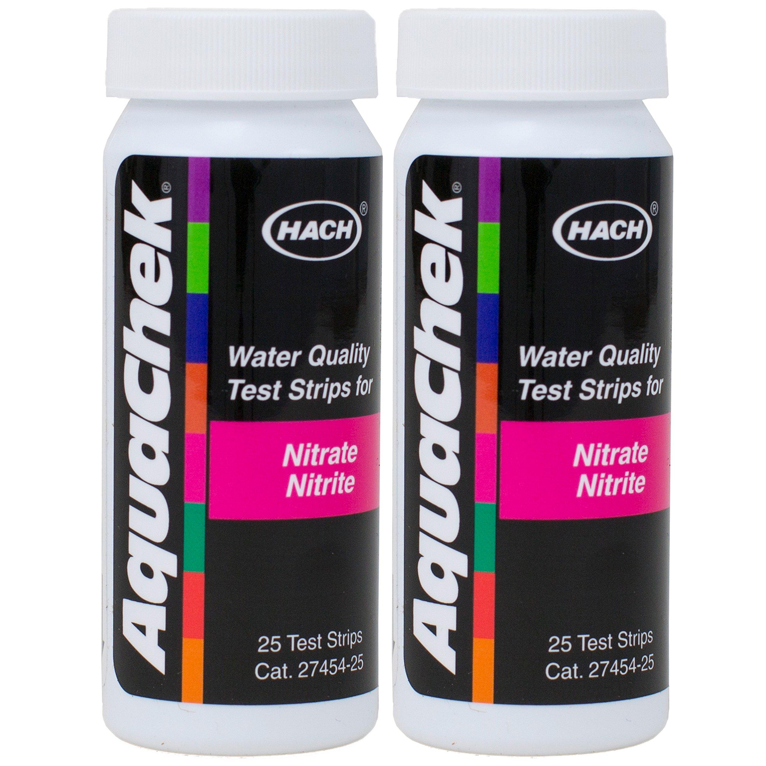AquaChek Nitrate Nitrite Test Strips (25 Count) (2 Pack) by AquaChek