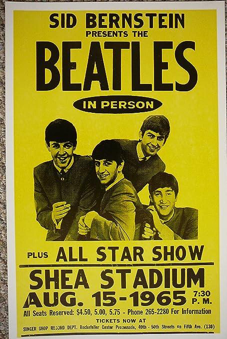 Amazon.com: Póster de los Beatles en SHEA Stadium: Home & Kitchen