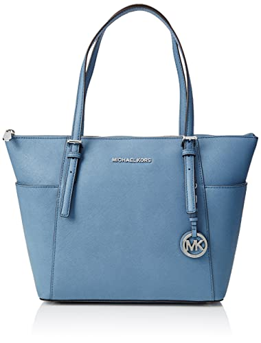 62fe80e3009c Amazon.com: Michael Kors Women's Jet Set Item Ew Tz Tote, Denim: Clothing
