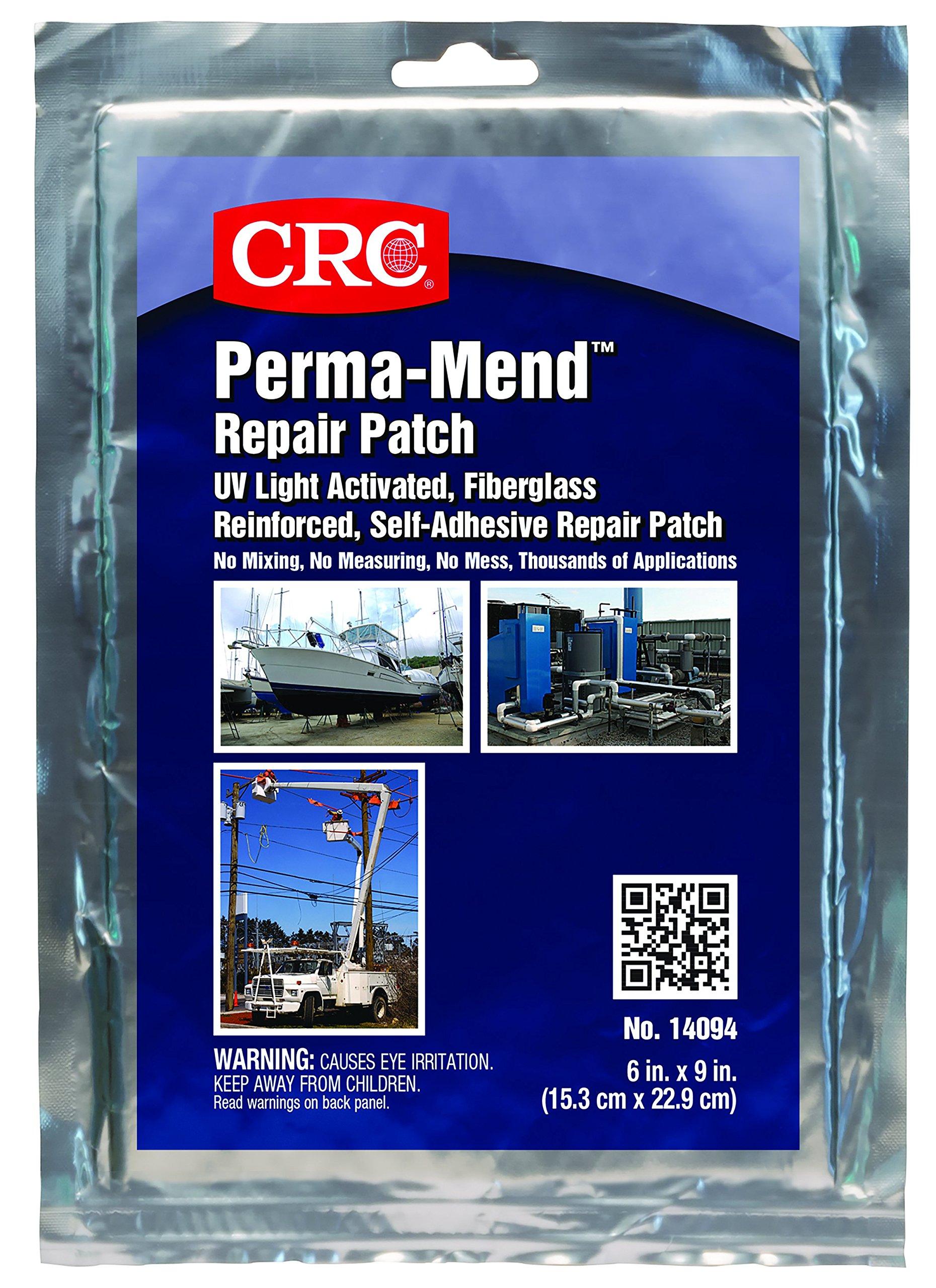 CRC 14094 Perma-Mend Grey UV Curable Repair Patch, 6'' x 9''