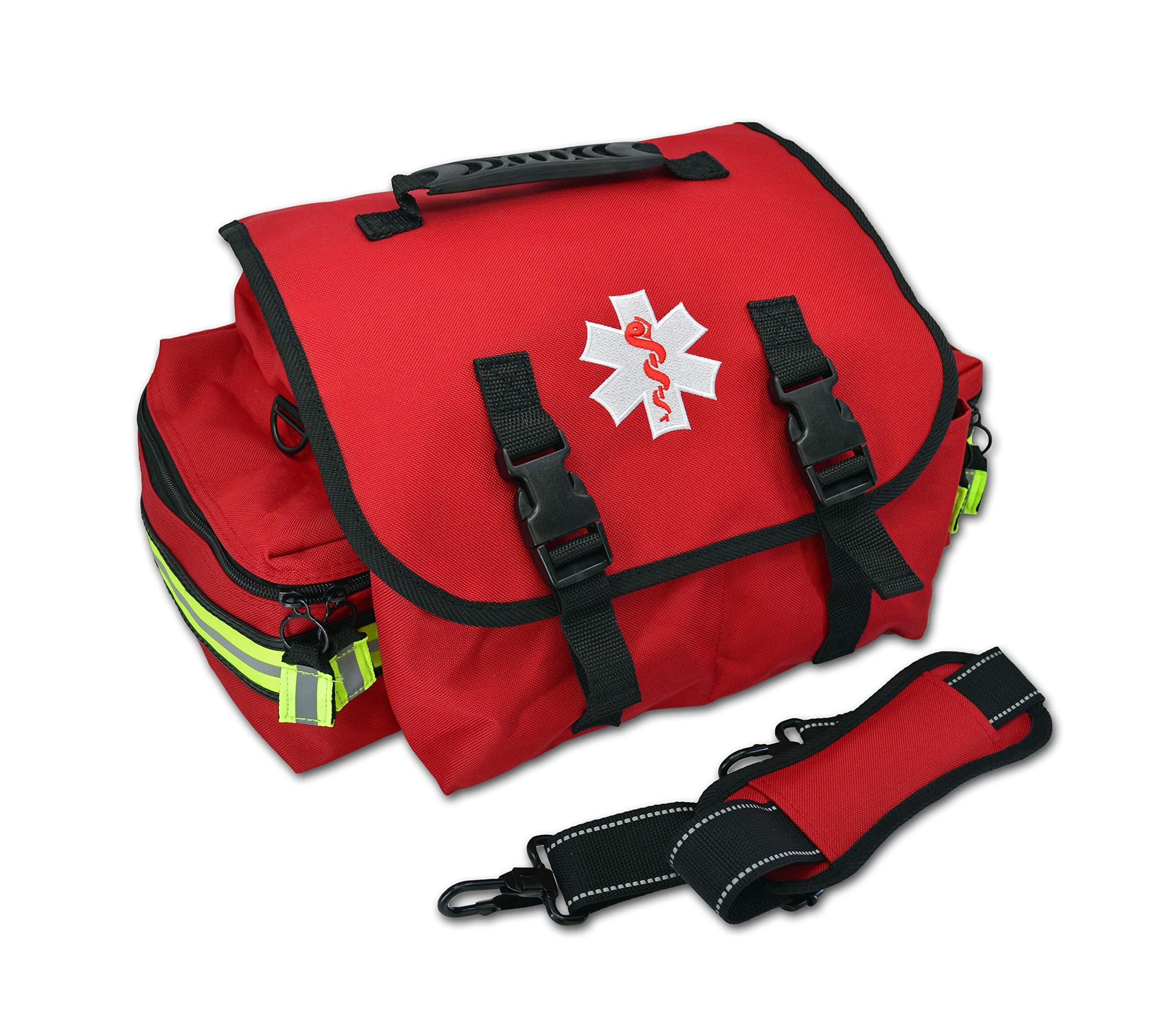 Lightning X Small EMT Medic First Responder Trauma EMS Jump Bag w/Dividers (Red)